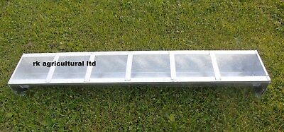 6ft  galvanised pig feed trough