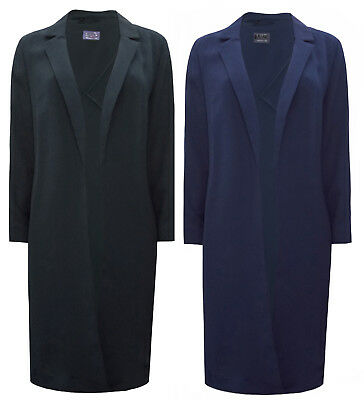 Ladies Ex- Marks and Spencer M&S Longline Crepe Duster Coat Jacket 8-22 RRP £55