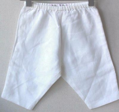 Bonpoint Baby Cream Linen Dandy Trousers 3 Months