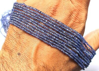 Natural Iolite Gemstone Rondelle Micro Faceted Beads 1Strand 13'' Inch 2.5mm S1