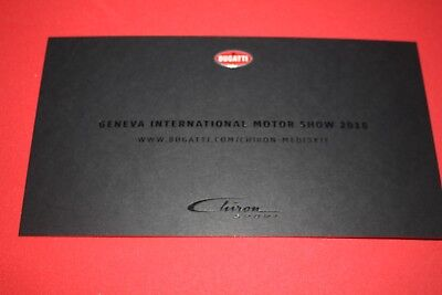BUGATTI CHIRON Sport  Pressemappe Genf 2018 press kit