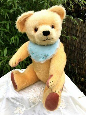 Antique Vintage 23inch chunky English Teddy Bear 1950's