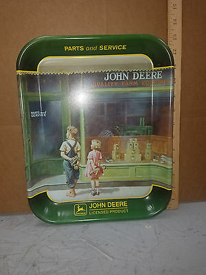 """1999 John Deere """"A Friend In Need"""" Tray featuring Art by Walter Haskell Hinton"""