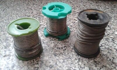 3 rolls of 3.2mm lead solder flux