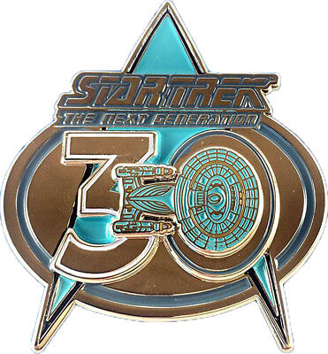 30 Jahre Next Generaation - exklusiver Sammler Collectors Pin Metall - Star Trek
