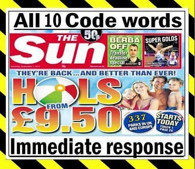 💖 The Sun Holidays Booking Codes £15 ALL 5 Token Code Words >>> *Fast Response*