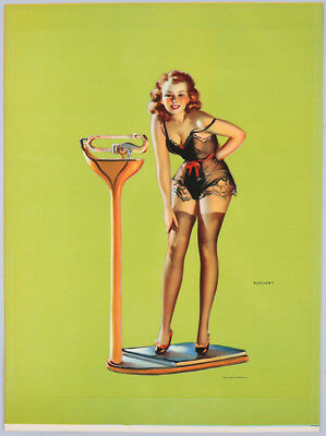 Vintage 1930s Gil Elvgren Art Deco Cheesecake Pin-Up Poster Figures Don't Lie
