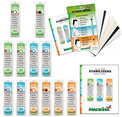 Madeira Stickvlies und Folien, Cotton Soft,Stable,Fix,Avalon Film,Ultra,Plus,Fix
