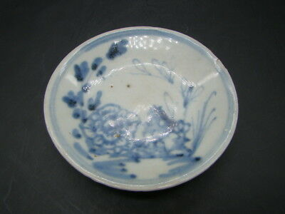 Chinese Ming Dynasty (1368-1644 AD) small blue white plate  r3681
