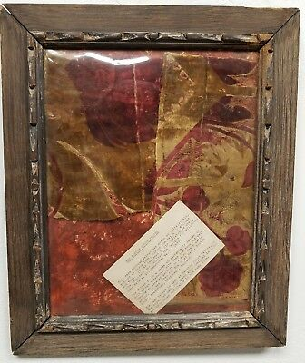 Antique 17th c. Velvet Fragments England THE BOSTON HOUSE VELVET Sir Chris.Wren