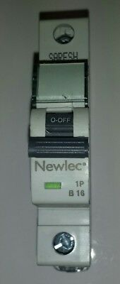 Newlec 16a MCB 16A Type B Single Pole  Single Phase