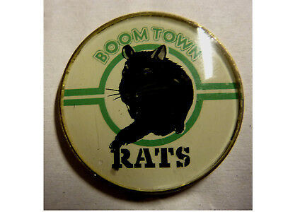 BOOMTOWN RATS * Vintage late Seventies Pinback Button Badge Brooch