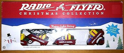 NEW Radio Flyer Red Wagon String of Lights Christmas 10 lights 9.5 feet RETRO