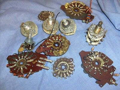 Lot of Vintage rotary switches  from CB ham radio shop / l2