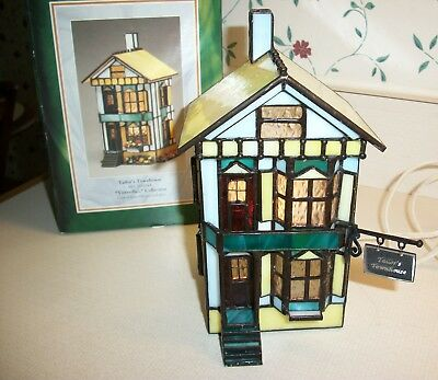 """Forma Vitrum Stained Glass Vitreville """"Painter's Townhouse and Sign""""  with Box"""