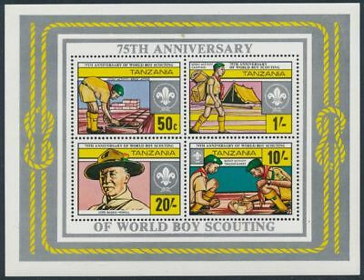 Tansania 75th Anniversary Boy Scout and World food day pathfinder mint 1982