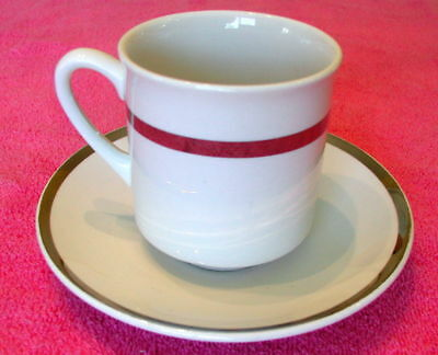 {SET OF 4} W H Grindley Satin White (GRI101) CUP & SAUCER SETS Exc