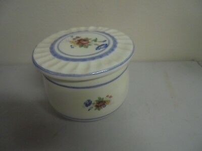 Ceramic Flower Round Butter Dish with Lid   4x5