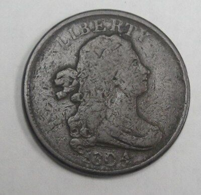 1804 Draped Bust Half Cent * Rare Early Type coin *