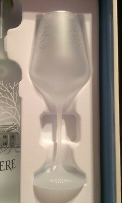 Collectible Advertising 1 Belvedere Vodka Spritz Frosted Glass Box not Included