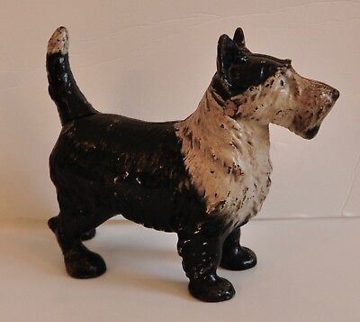 Antique Hubley Lg. Scotty Terrier Dog Cast Iron  Door Statue Weight Doorstop