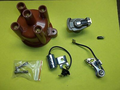 Volvo Penta 4 Cylinder Tune Up Kit Points Condenser Rotor Cap AQ125 AQ131 841263