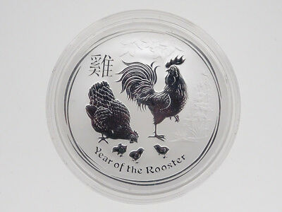 2017 1 Oz Silver Rooster Lunar Bu Coin From Perth Mint Australia