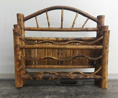 Vintage Bamboo Bentwood Wall Shelf Unusual Rare Find
