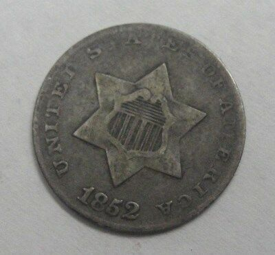 1852 US Silver Three (3) Cent Piece