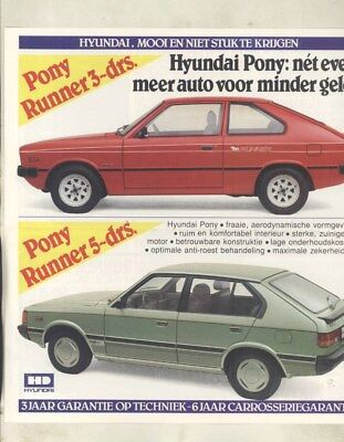 1983 Hyundai Pony Brochure Dutch wy9621
