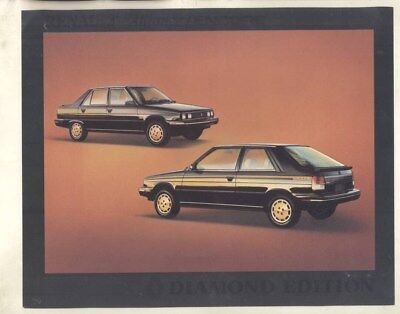 1984 ? Renault Canada Encore Alliance Diamond Edition Brochure wy9609
