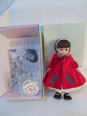"""Madame Alexander 2004 Christmas Tea With Ornament 8"""" Doll 38541 Mint New In Box"""