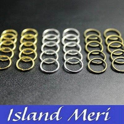 Hair Rings for Dreads, Braids, Plaits in Silver, Gold, Bronze. Packs of 10,20,40