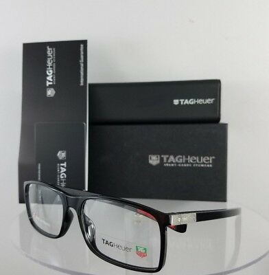 Brand New Authentic TAG Heuer Eyeglasses TH 0517 002 Shiny Black 58mm Frame