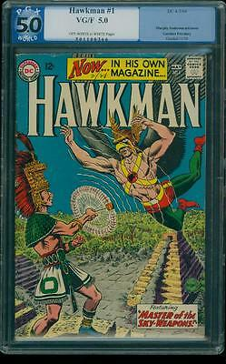 Hawkman 1 PGX 5.0 OW/W Silver Age Key DC Comic 1st Appearance in own title L@@K!