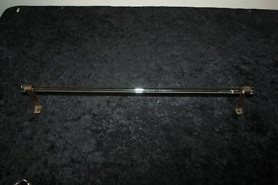 "Vintage Antique Glass Hand Towel Bar 17.5""  With Chrome Brackets Kitchen Or Bath"