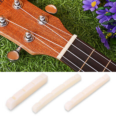 Durable Cattle Bone Bass Upper Nut for 4 Strings Electric Basses Guitar 3 Sizes