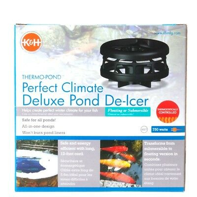 K&H 8175 Perfect Climate Deluxe 750-Watt Pond De Icer Floating or Submersible