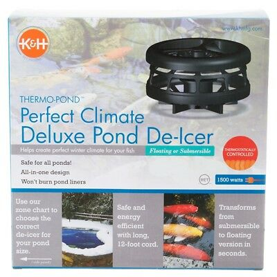 K&H  Perfect Climate Deluxe 750-Watt Pond De Icer Floating or Submersible