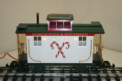 BACHMANN G-Scale Northern Lights Christmas Train Caboose North Pole & Southern