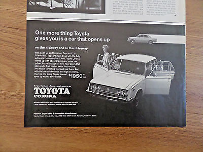 1969 Toyota Corona Ad Car that Opens Up