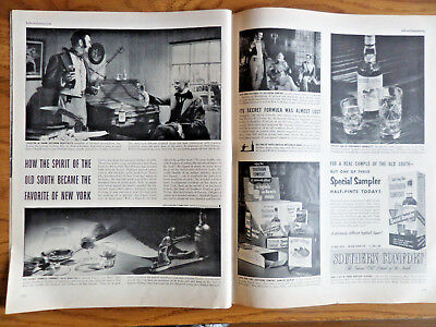 1953 Southern Comfort Liquor Whiskey Ad How Spirit Old South Favorite New York