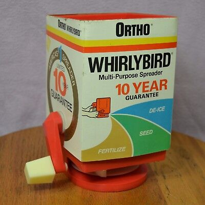 Vintage Ortho Whirlybird Multi-Purpose Spreader De-Ice Seed Fertilize