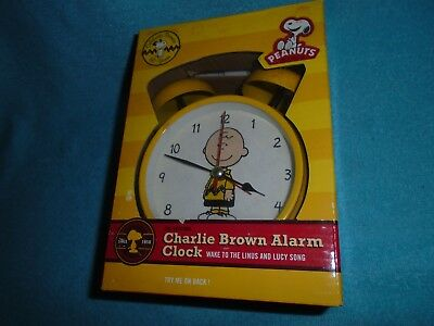 Wacky Wakers Charlie Brown Peanuts Alarm Clock Yellow - Works Great - Complete
