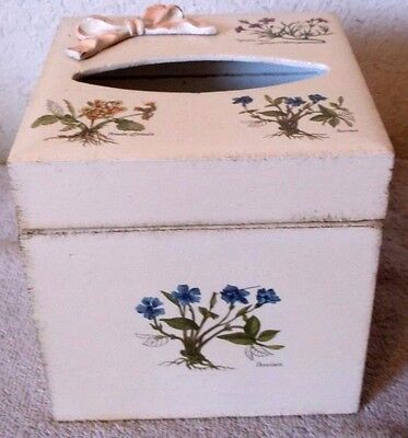 Vintage Italy Legno Holz Wood Tissue Box Rare Estate Find Beautiful Piece