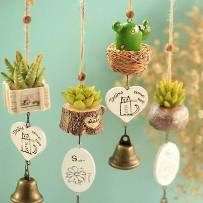 Exquisite Mini Wind Chimes Wall Hook Wooden Music Box DIY Hand Crank Craft saus