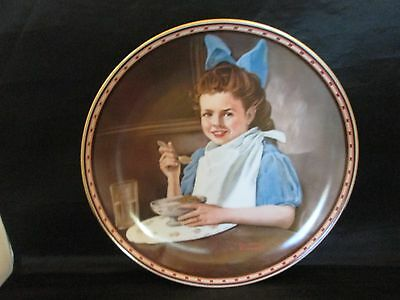 Good Intentions Norman Rockwell Collector Plate Studies of Girlhood