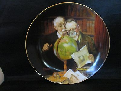 Newfound Worlds Collector Plate Norman Rockwell Golden Moments