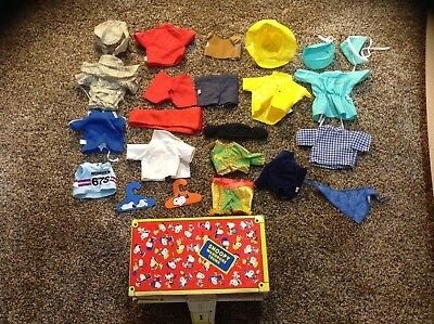Lot of Vintage  Snoopy doll clothes outfits plus Wardrobe Trunk Free Ship USA