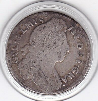 1696  King  William  III  Sterling  Silver  Shilling  British Coin